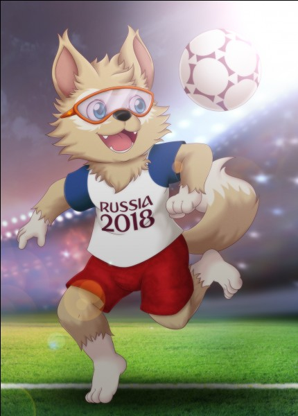 What is the name of the 2018 World Cup mascot ?