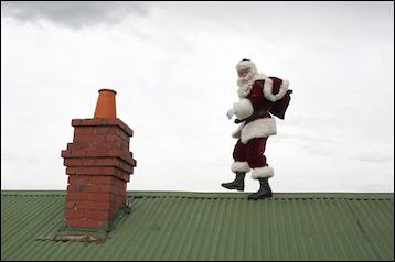 What is the biggest risk to Santa being on your roof?