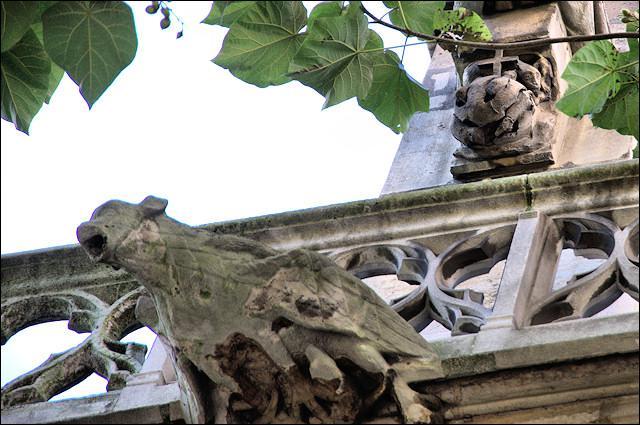 This bizarre church sculpture (top right) represents...