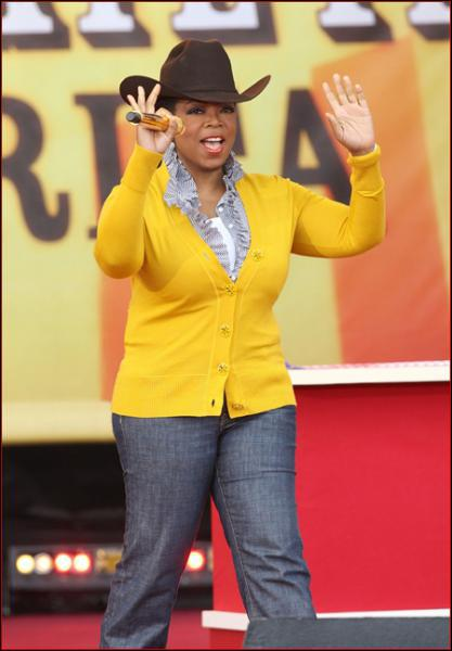 What prompted Oprah to move her show to Texas for a few weeks?