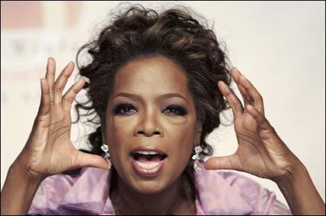Who did Oprah invite as her first guest ever but never showed up?