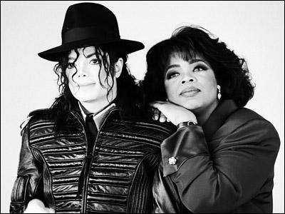 Who appeared on Oprah's famous Michael Jackson interview by surprise?