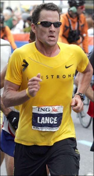 Lance Armstrong is wearing... . .