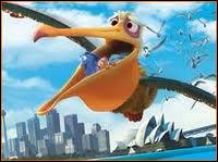 What is the name of the Pelican that saves Marlin and Dory's life?
