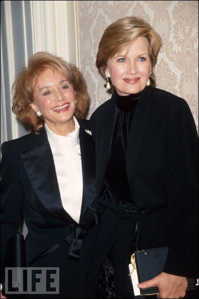 Barbara Walters is Diane Sawyer's cousin