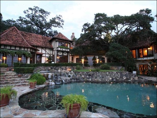 Whose home is located in Bellair? This home has multiple fireplaces, a glass-enclosed spa and a pool. This home was originally listed for $25 million, it was reduced to $9. 242 million.