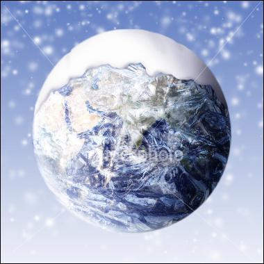 What was the cold-weather period called when sheets of ice covered the Earth?