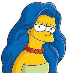 What is different about marge in this picture?