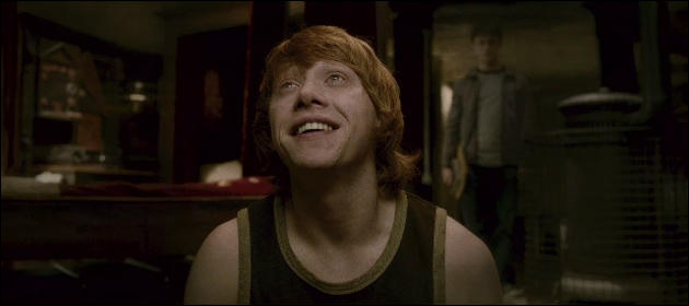 Who did Ron become infatuated with after taking a love potion in The Half Blood Prince?