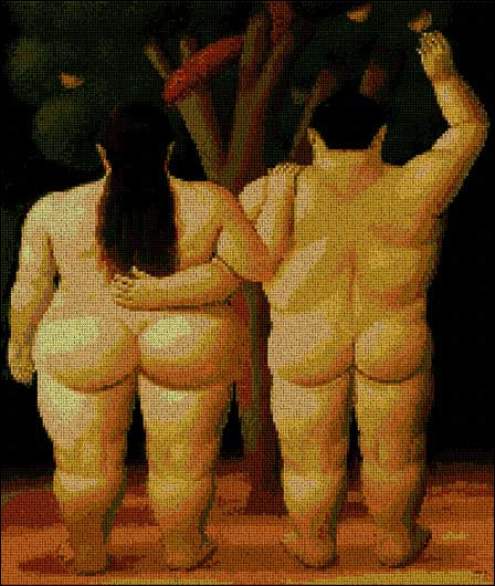 Who painted this version of Adam & Eve?