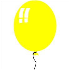 The baloon is _____________
