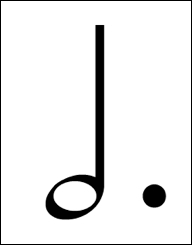 In 3/4 time, how many beats would this note get?