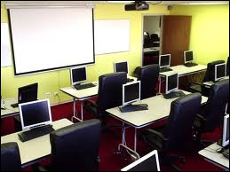 In this class there are many computers, where is it?
