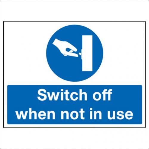 Why is it important to make sure that your PC and other electrical appliances in your area are switched off at the end of the day?