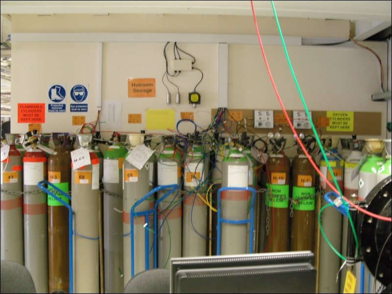 Why do we segregate the storage of our Oxygen rich gas cylinders and flammable gas cylinders by 3m?