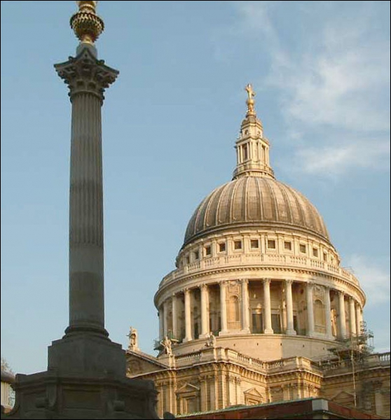 It was designed by the famous architect Sir Christopher Wren, after the Great Fire. What is it?