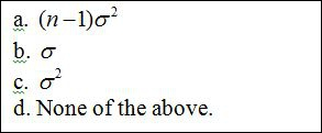 Which is the correct value for the expected value of the mean square of the error?