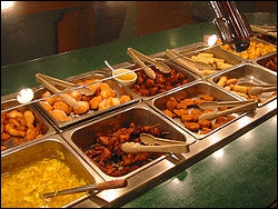 Which is incorrect? A large buffet needs more money because :