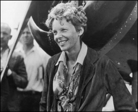 Which of the following statements is true about Amelia Earhart?