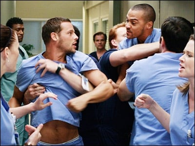 How was april brought to seattle grace hospital?