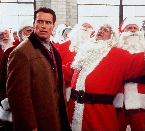 Who was the co-star in the Arnold Schwarzenegger Christmas movie, 'Jingle All the Way'?