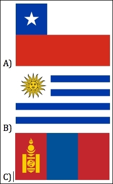 Which one is the flag of Chile?