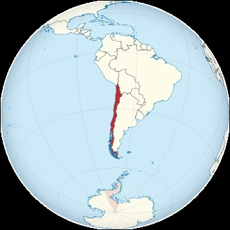 Which country is not a direct neighbour of Chile?