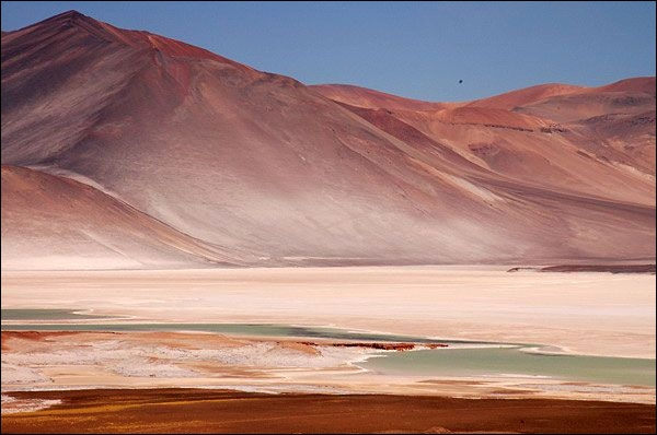 Which desert does not belong to Chile's national territory?
