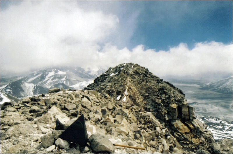 The highest mountain in Chile is at the same time the biggest volcano in the world. It is called  Ojos del Salado . How high is it?