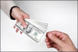 He ____ ____ any money.