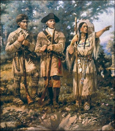 What did Sacagawea save during a storm?