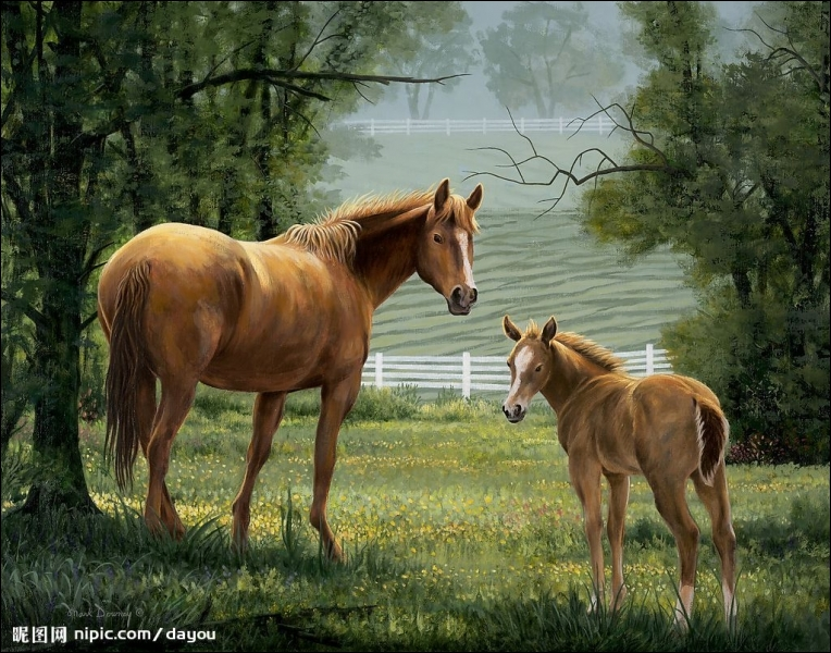 How many horses are there in this picture?