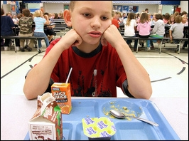 One boy in my class always eat lunch alone. I should...