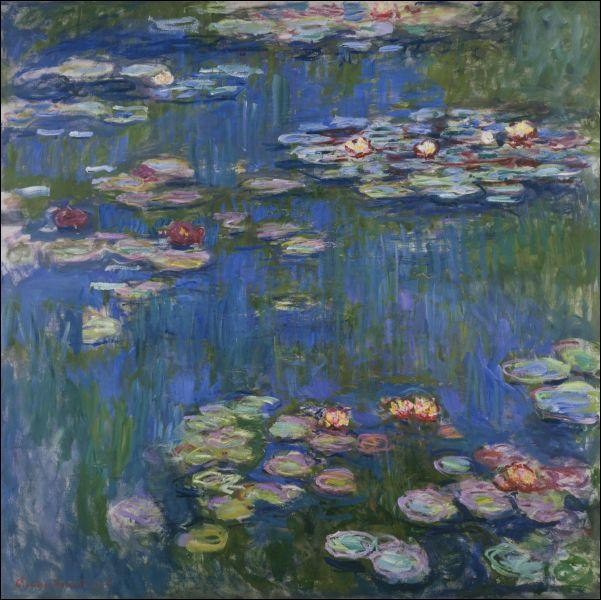 This famous painting is called 'Water Lilies'. Who painted it?