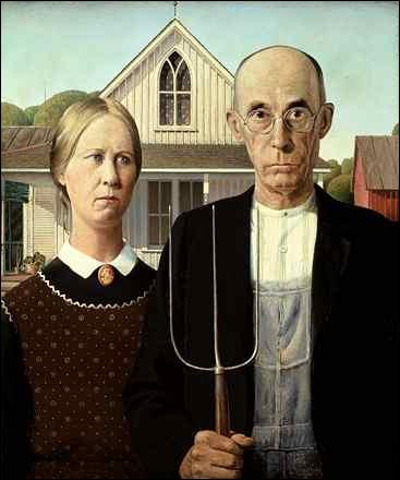 This Grant Wood painting is called...