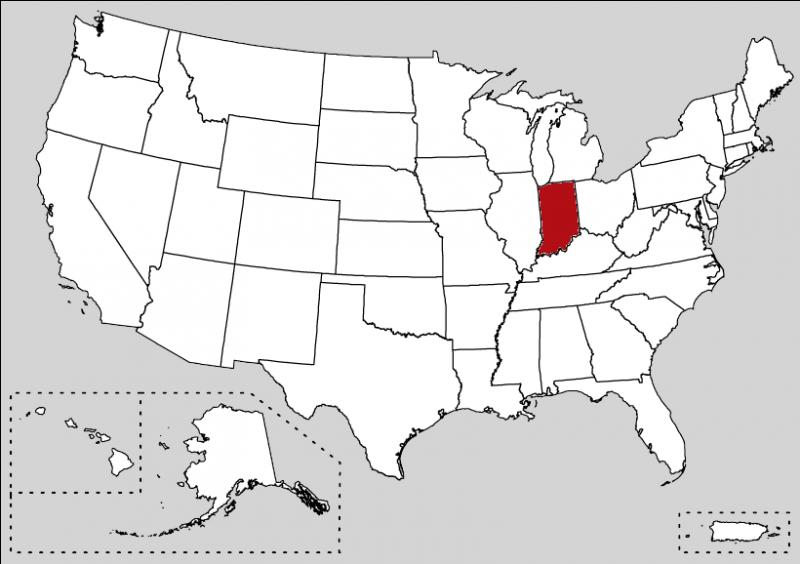 In 1679, this state was discovered by the French explorer René-Robert Cavelier, Sieur de La Salle. Indianapolis is the capital (very easy to know now).