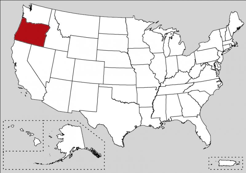 The most populated city is Portland but the capital of the state is Salem. It is the 33rd state of the country.