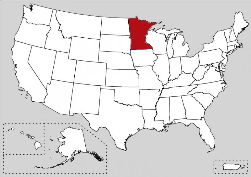 It is the  Land of 10, 000 Lakes . You can visit Minneapolis or the capital, Saint Paul. What is this state ?