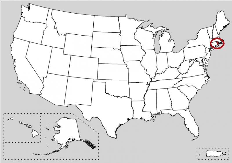 This is the smallest state of the USA but this is also the second most densely populated.