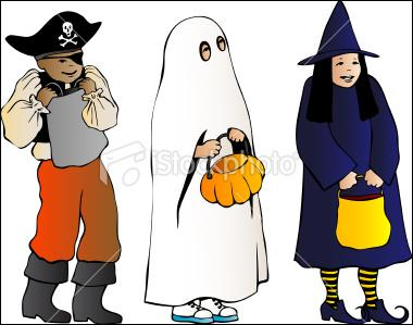 On that day, children wear ... costumes