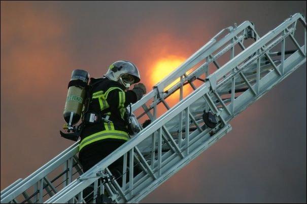 A fireman uses a ... .