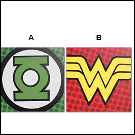 Which logo represents Wonder Woman?