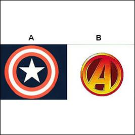 Which logo represents Captain America?
