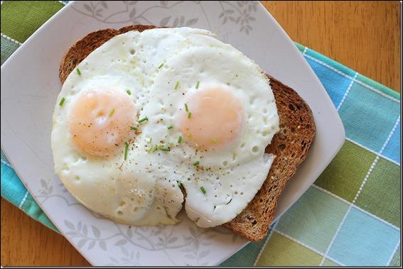 Cook an egg like in question 2. Flip the egg over and fry the other side for a few seconds. You get ... egg