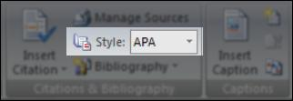 True or False : APA is the only citation style available in Microsoft Word 2007.