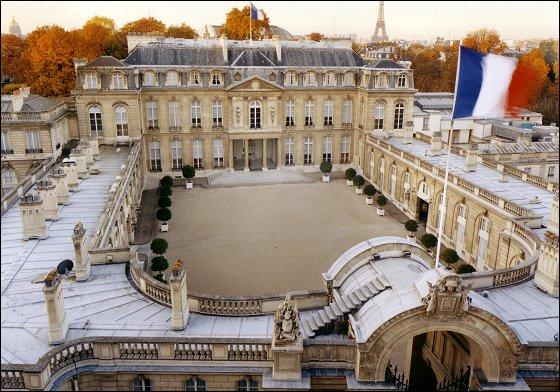 What is the official residence of the President of the French Republic ?