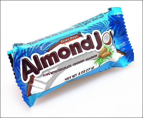 What about almond joy candy bar?