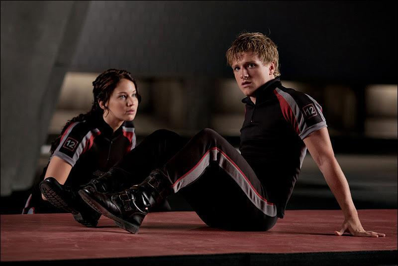 Since when Peeta does fall in love with Katniss?