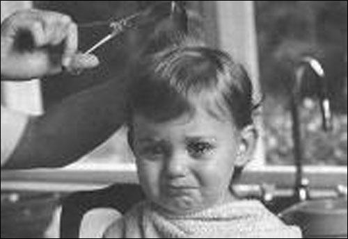 It is illegal for barbers to threaten to cut off kid's ears.