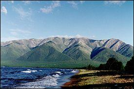 The lake is completely surrounded by mountains. On the north shore are ... Baïkal Mountains.